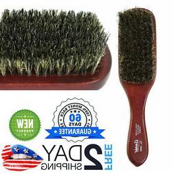 "US! ""Spin"" Wave Brush 100% Pure Boar Bristles Natural Wood H"