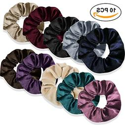10 PCS Velvet Hair Scrunchy Set, Hair Scrunchies Bobble Elas