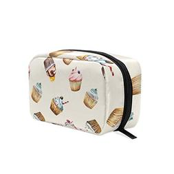 Watercolor Love Cake Decorating Kit Cosmetic Bag Storage Bag
