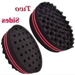 Generic Wave Barber Hair Brush Sponge for Dreads Afro Locs T