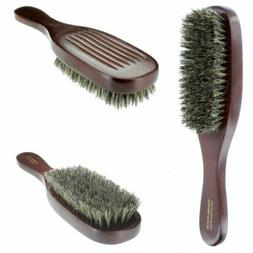 100% Pure Natural Soft Boar Bristle Wave Hair Brush Wood Han