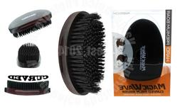 Magic Wave Premium Curved Hard Boar Bristle Hair Brush Woode