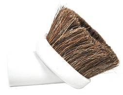 Generic White Horse Hair Soft Rubber Dust Brush Vacuum Attac