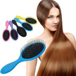 Women Detangle Hair Brush Salon Hairstyles Comb Wet Dry Scal