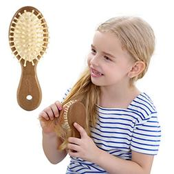 Natural Wood Hair Comb Wooden Hairbrushes Holdoor Scalp Mass