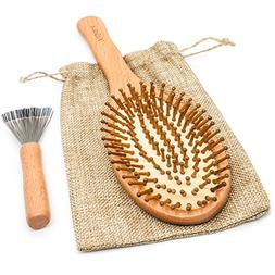 Wooden Hair Brush Comb Natural Hairbrush with Large Paddle C