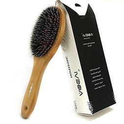 Hair Brush Natural bristles brush with Massage ball Natural