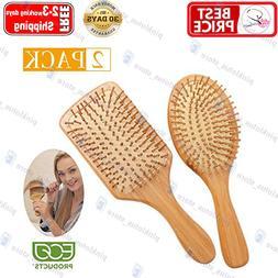 Zhuoyue Hair Brush - Natural Bamboo Paddle Hair Brush Set wi